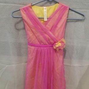 Beautiful 2 layered sleeveless girls dress